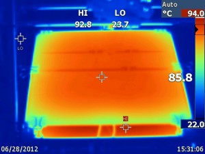SU-8 photolithography hot plate for SU-8 photoresist mold baking -  IR imaging